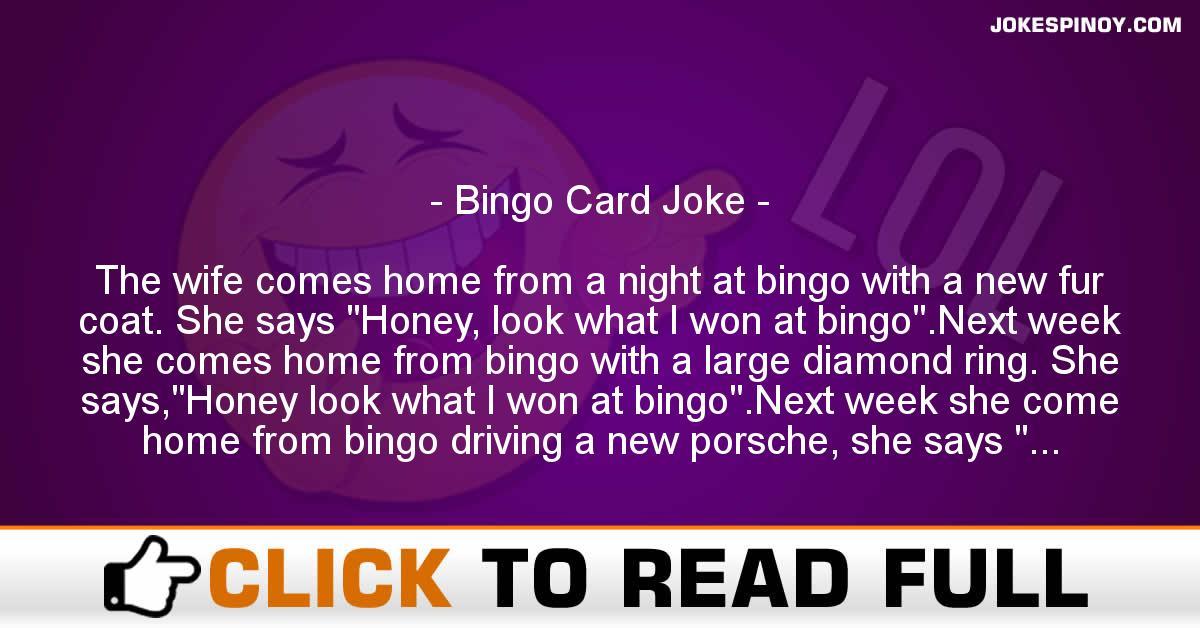 Bingo Card Joke
