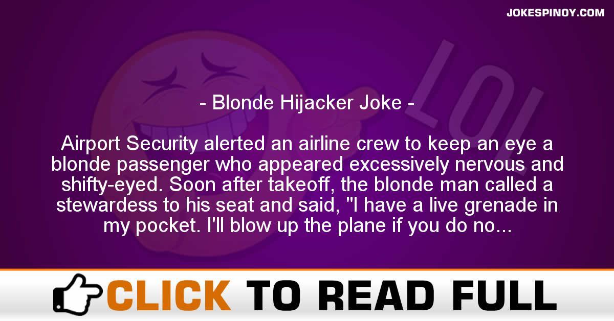 Blonde Hijacker Joke
