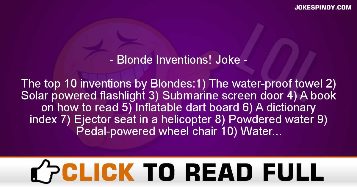 Blonde Inventions! Joke