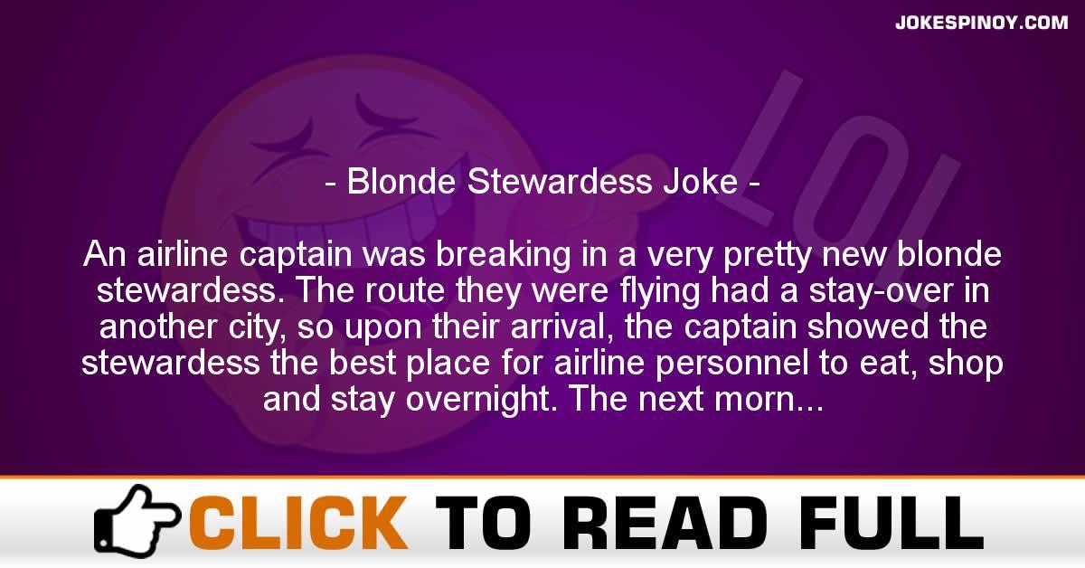 Blonde Stewardess Joke
