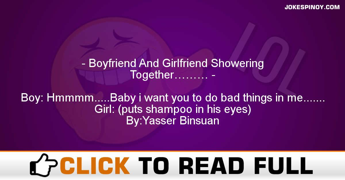 Boyfriend And Girlfriend Showering Together………