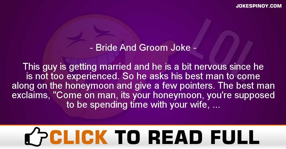 Bride And Groom Joke