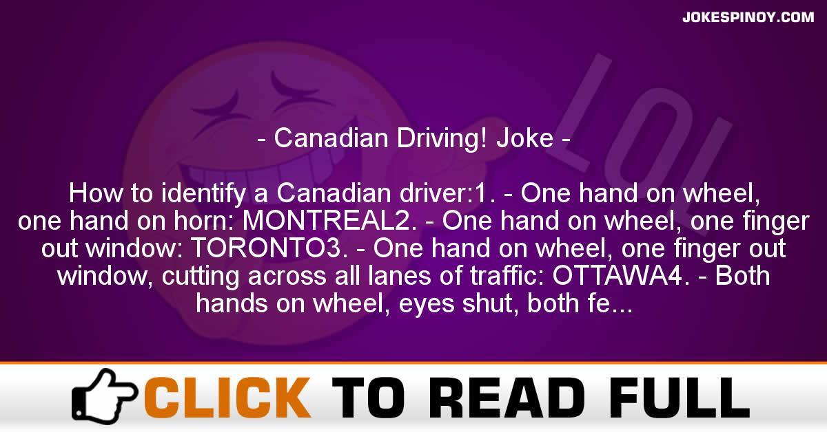 Canadian Driving! Joke