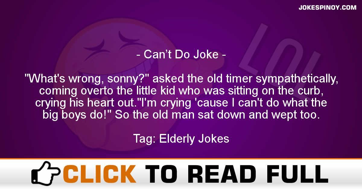 Can't Do Joke