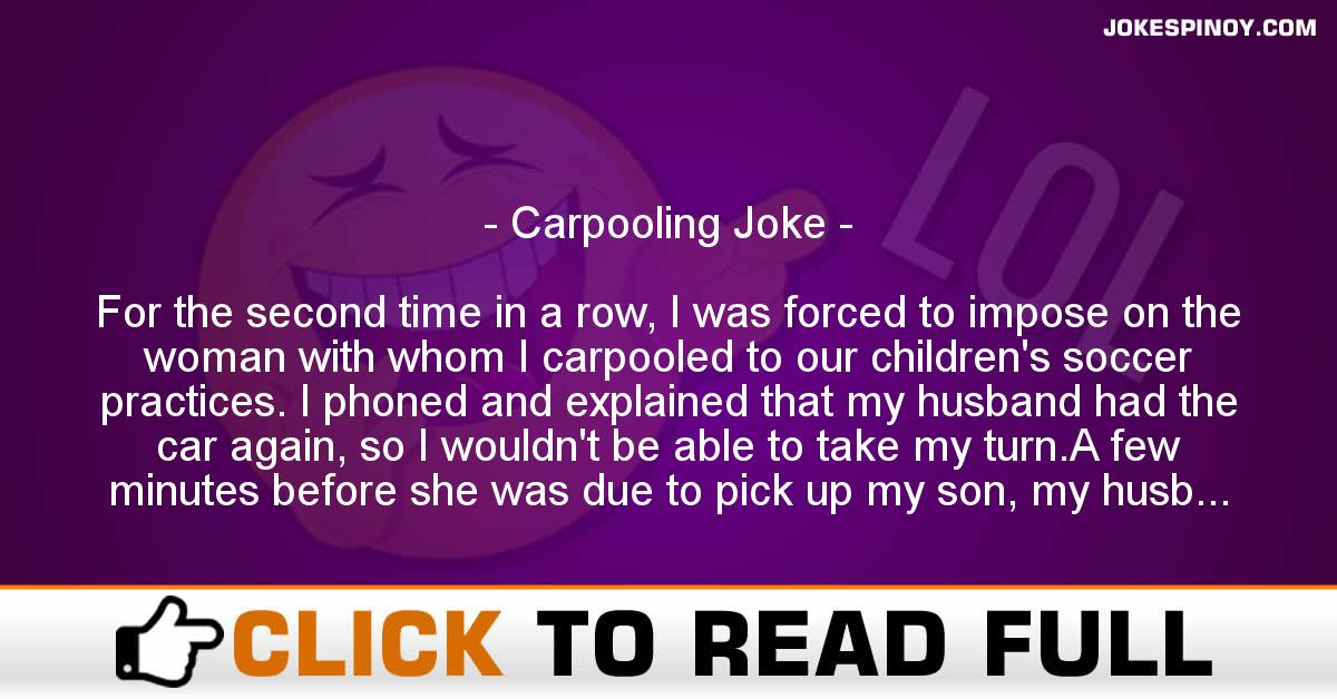 Carpooling Joke