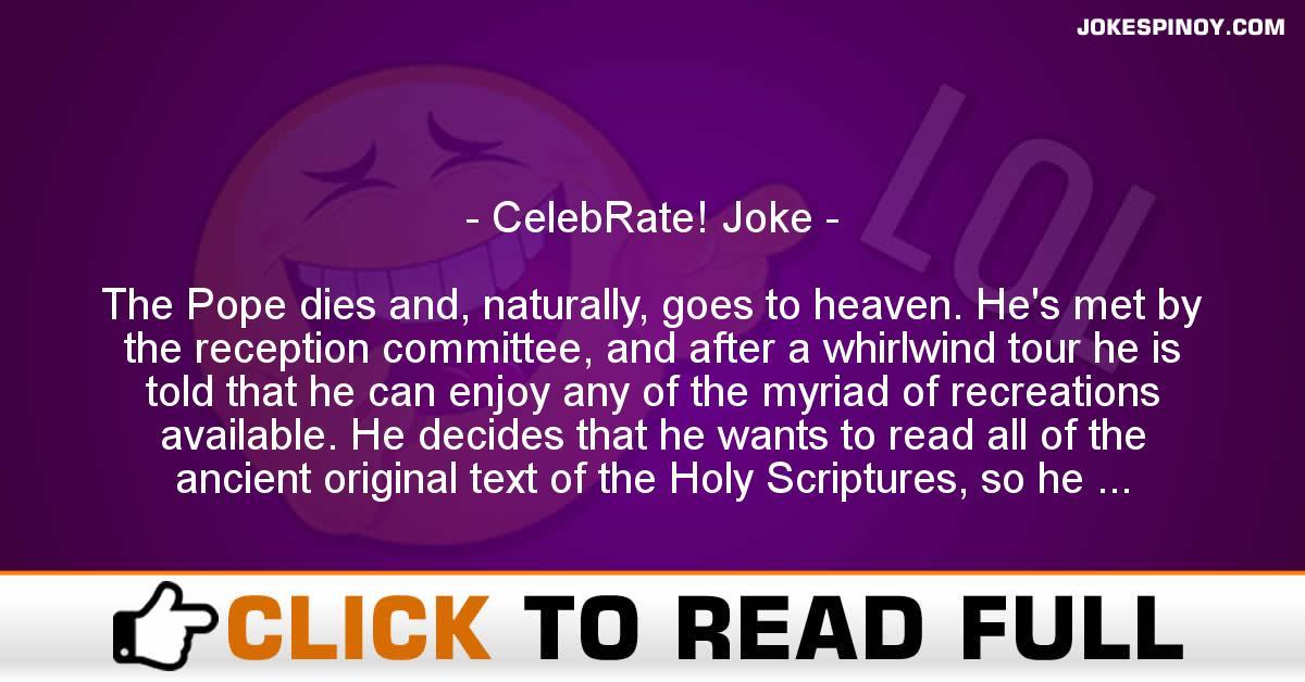 CelebRate! Joke