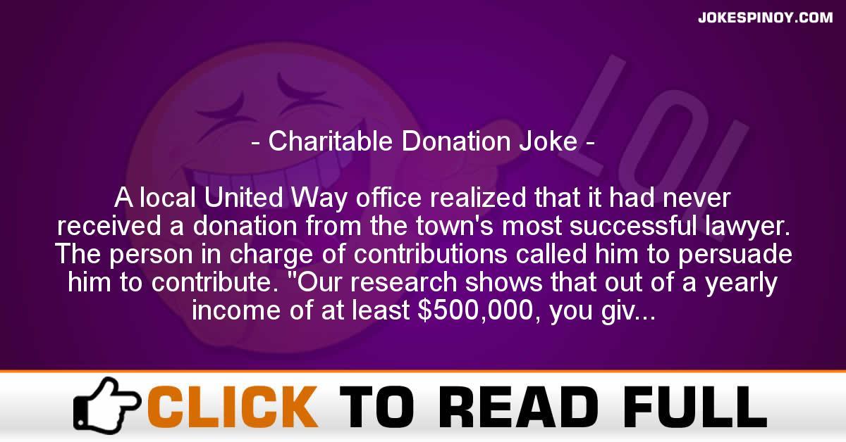 Charitable Donation Joke