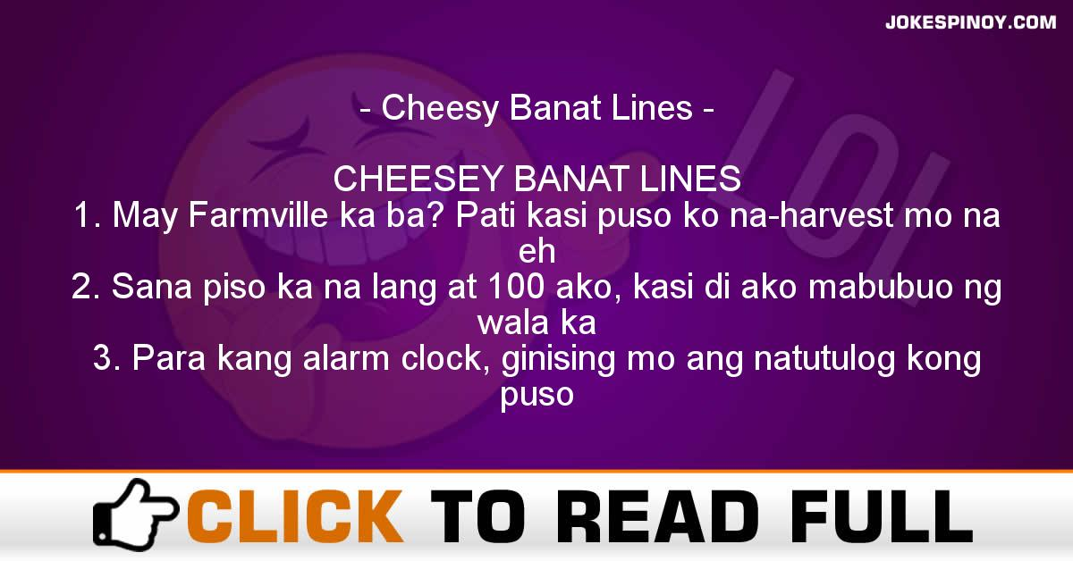 Cheesy banat lines - JokesPinoy.com