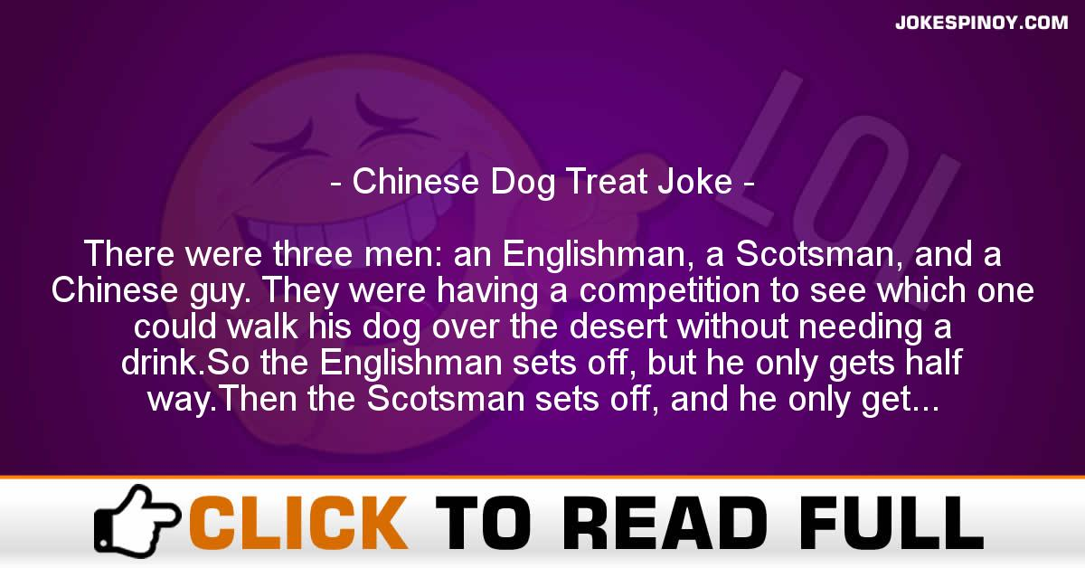 Chinese Dog Treat Joke