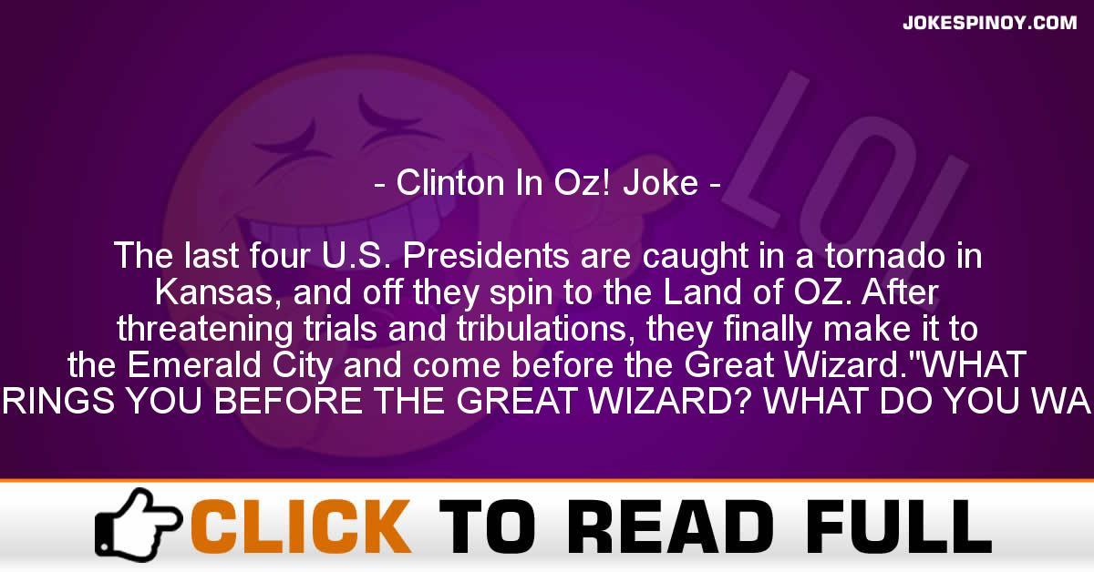Clinton In Oz! Joke