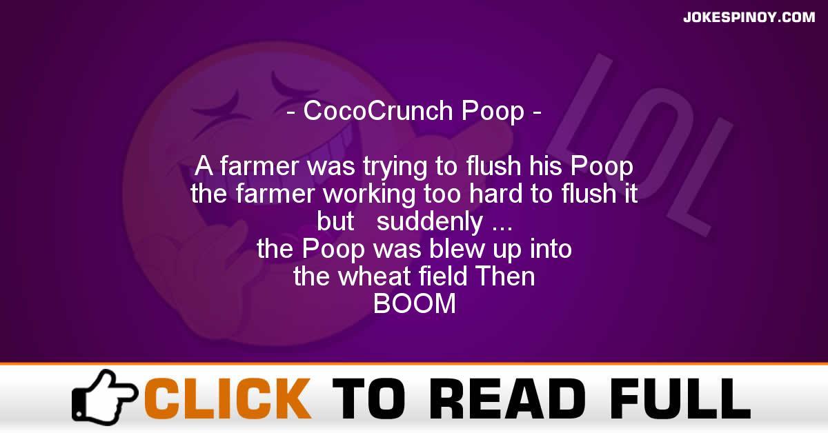 CocoCrunch Poop