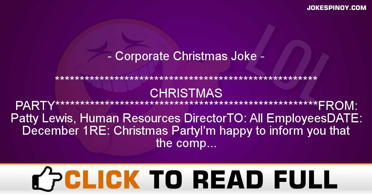 Corporate Christmas Joke