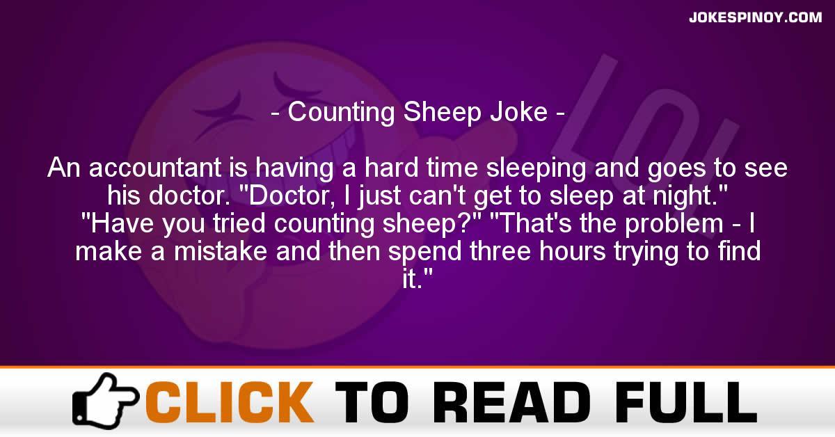 Counting Sheep Joke