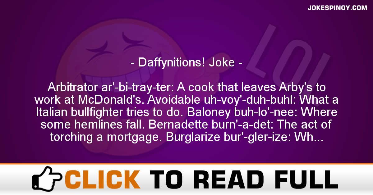 Daffynitions! Joke