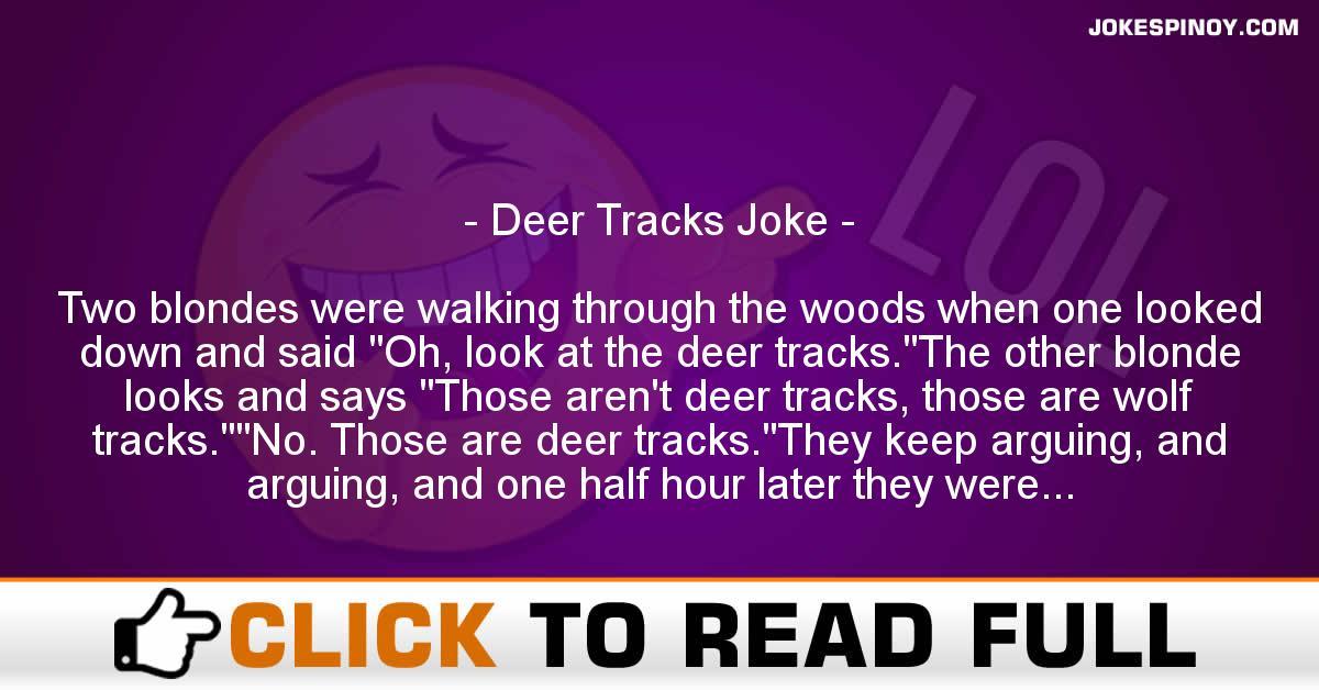 Deer Tracks Joke