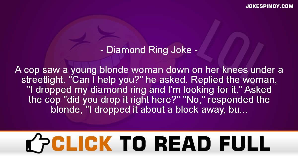 Diamond Ring Joke