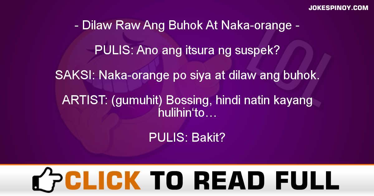Dilaw Raw Ang Buhok At Naka-orange