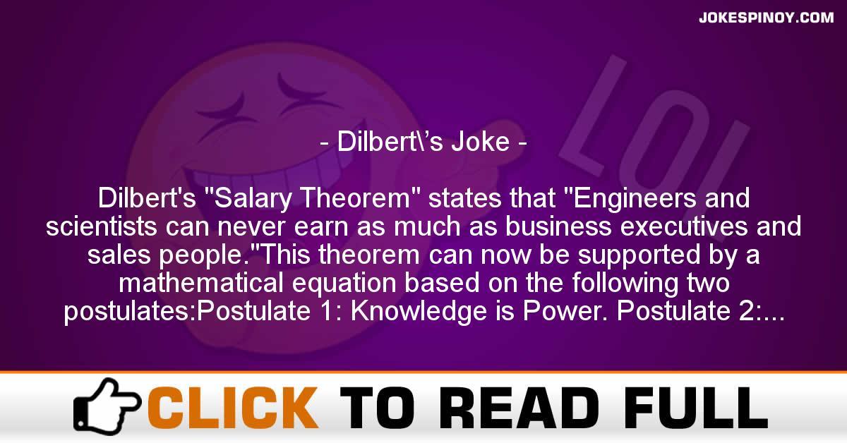 Dilbert\'s Joke