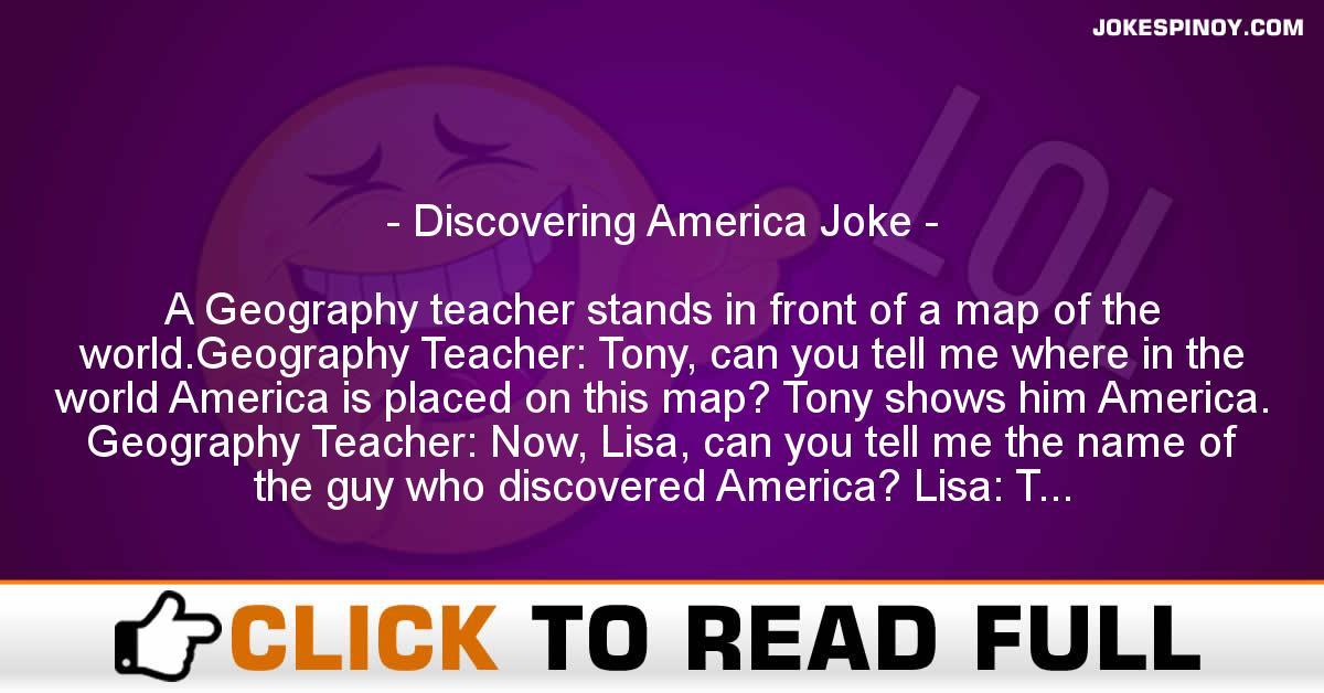 Discovering America Joke