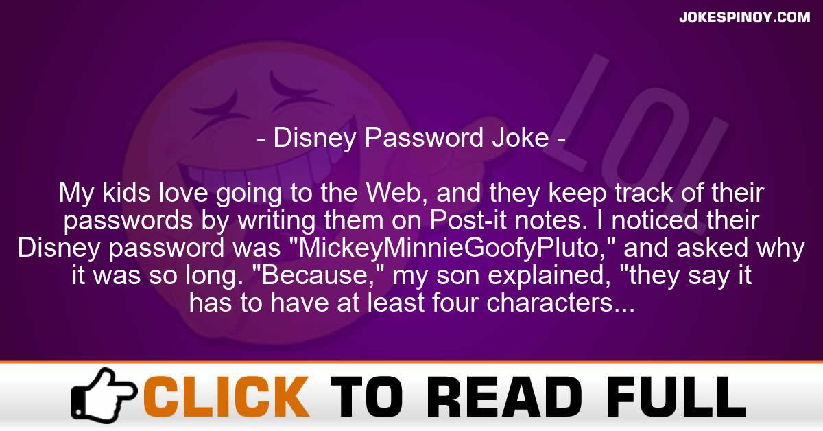 Disney Pa*sword Joke