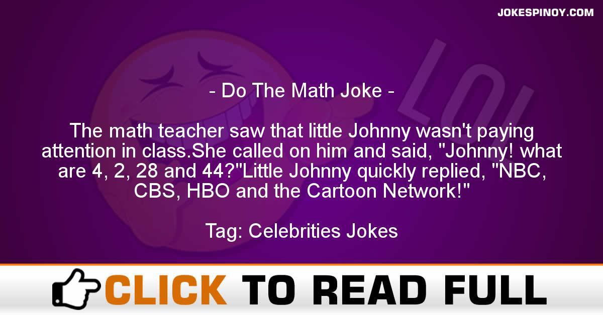 Do The Math Joke