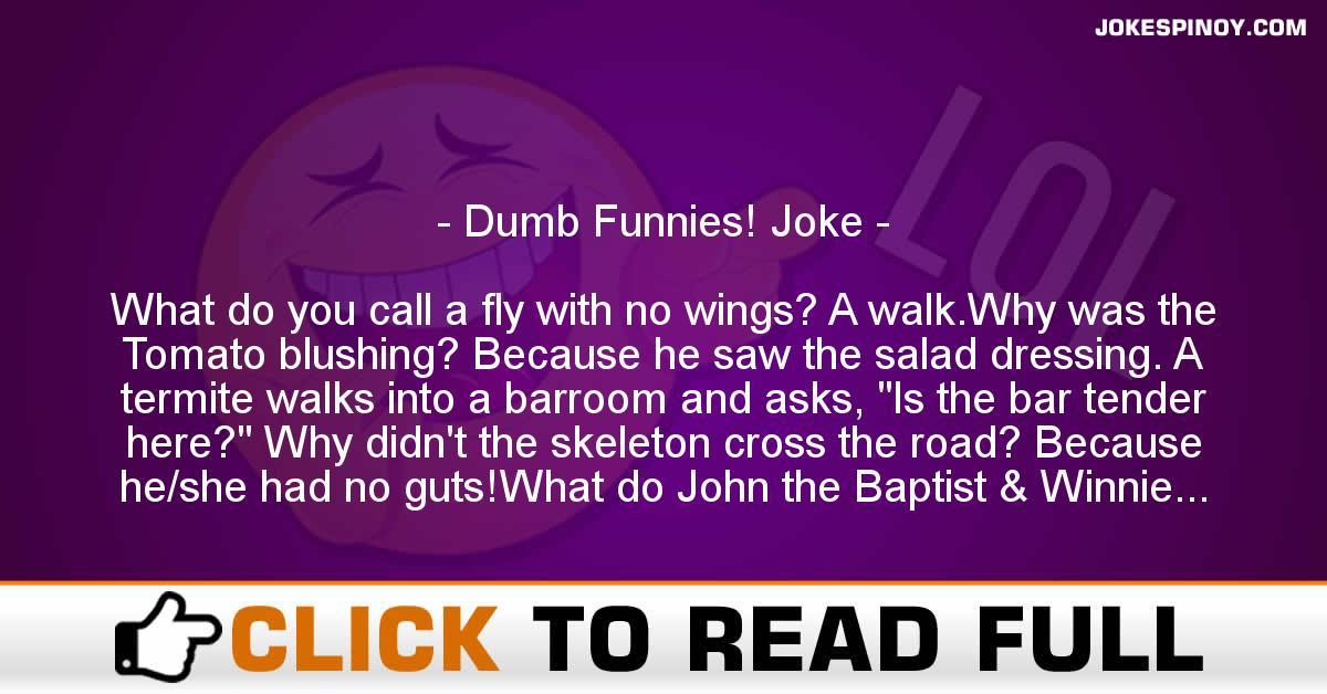 Dumb Funnies! Joke