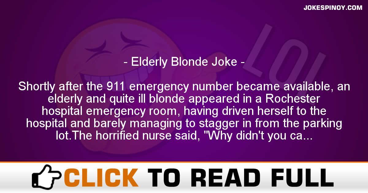 Elderly Blonde Joke