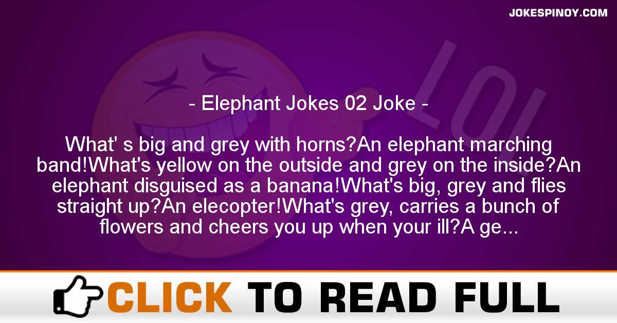 Elephant Jokes 02 Joke