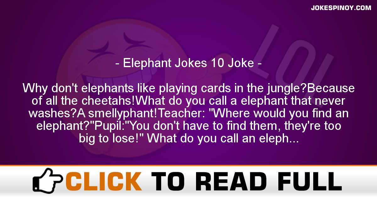 Elephant Jokes 10 Joke