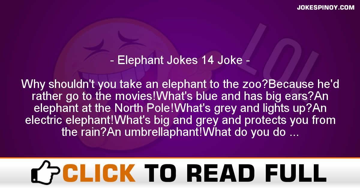 Elephant Jokes 14 Joke