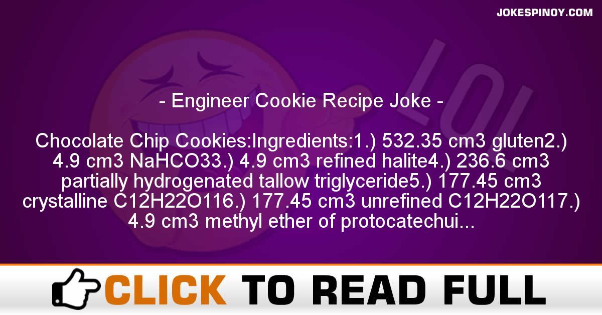 Engineer Cookie Recipe Joke