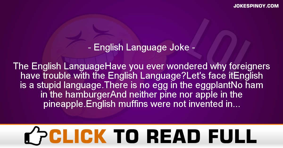 English Language Joke