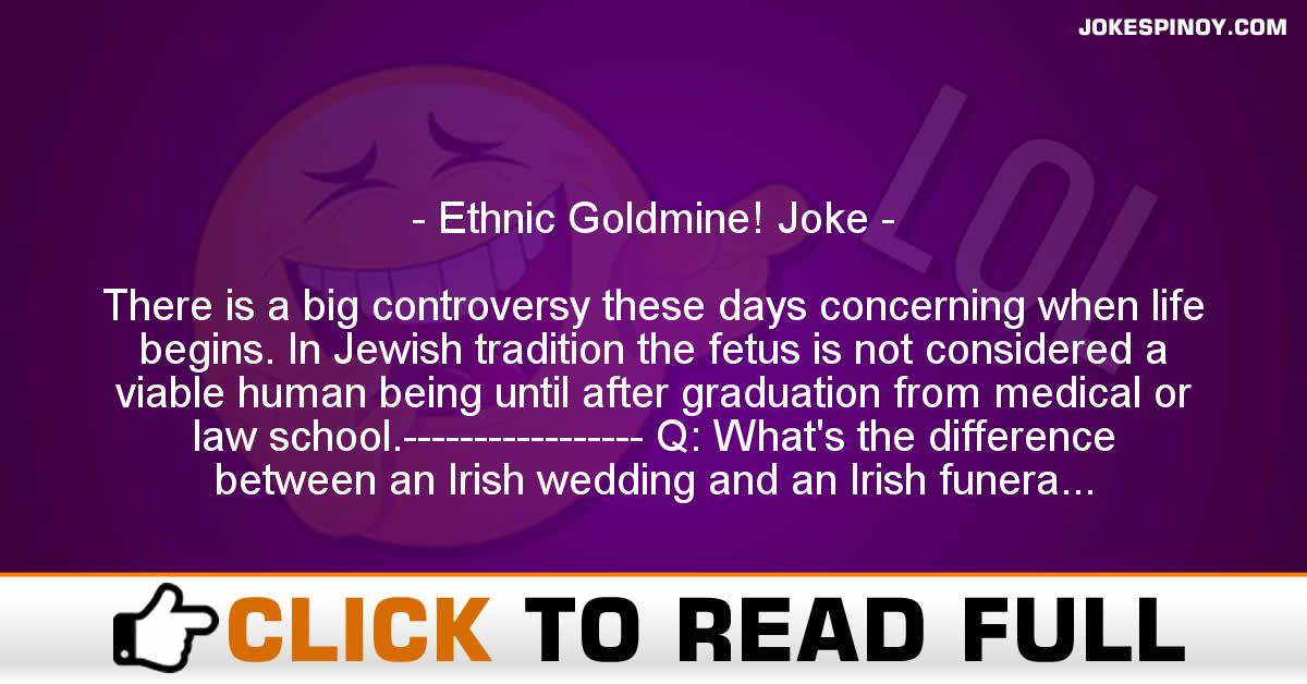 Ethnic Goldmine! Joke