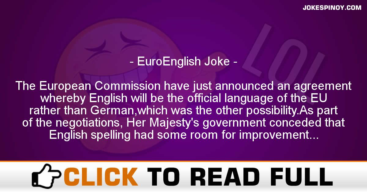 EuroEnglish Joke
