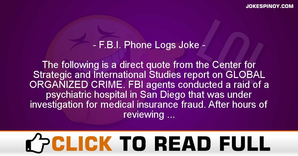 F.B.I. Phone Logs Joke