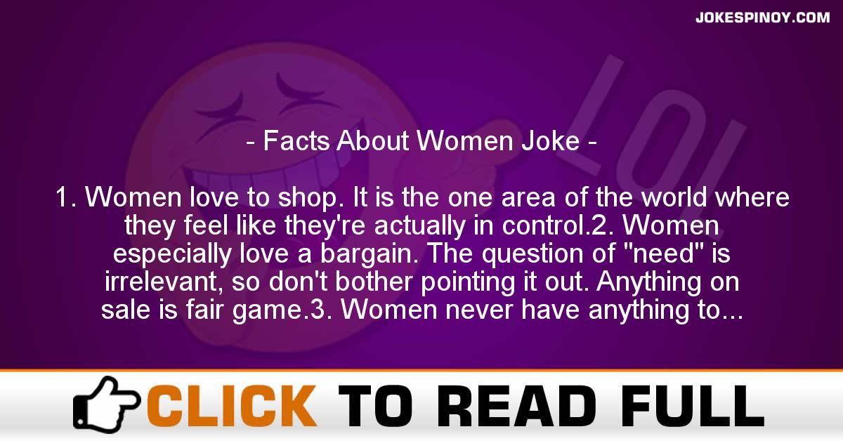 Facts About Women Joke