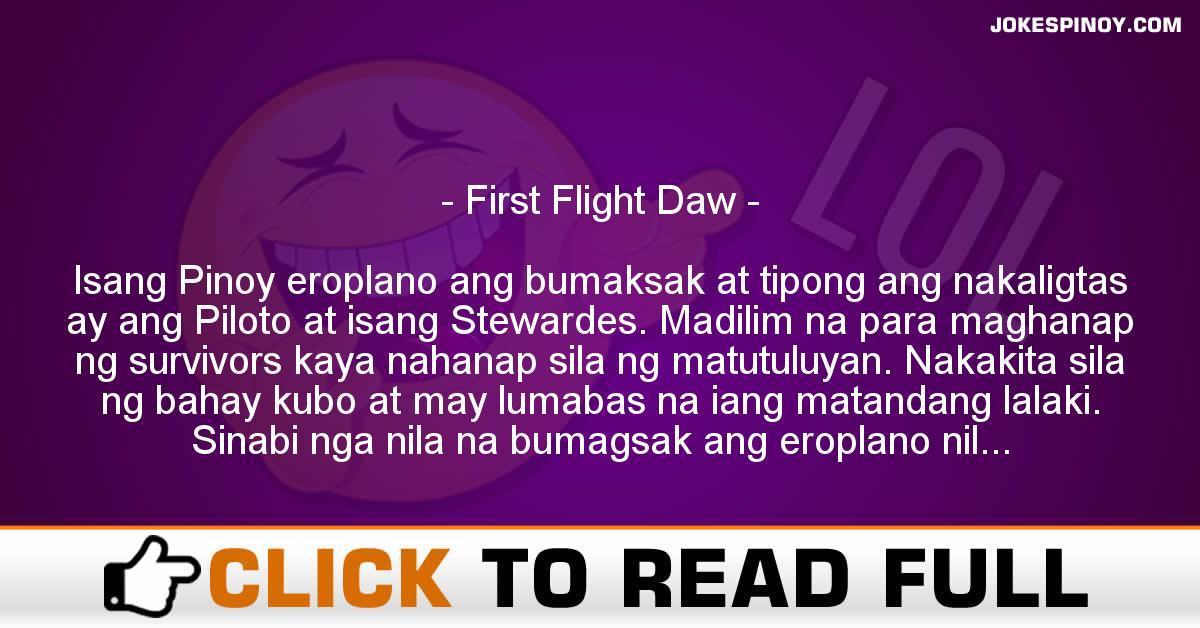 First Flight Daw