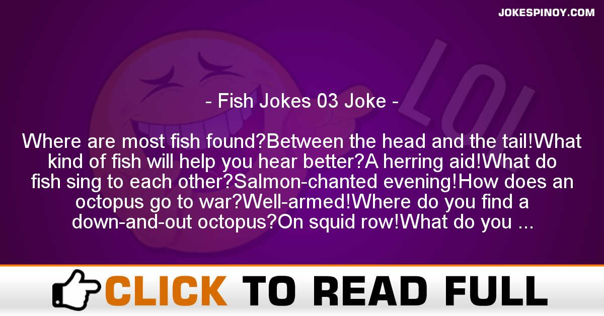 Fish Jokes 03 Joke