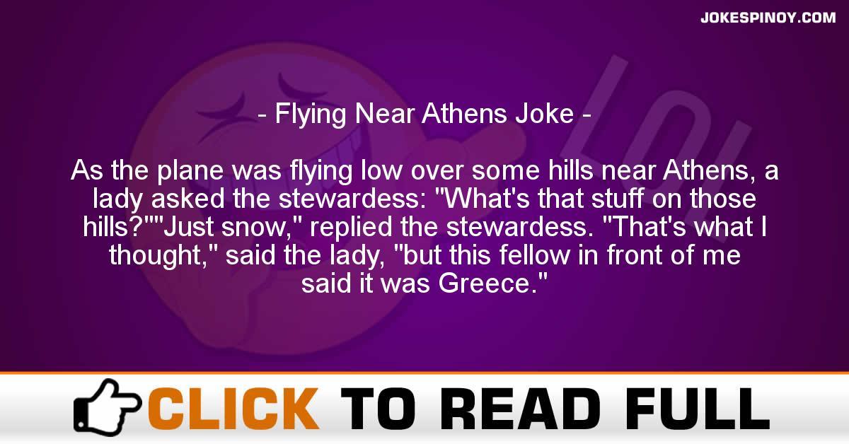 Flying Near Athens Joke