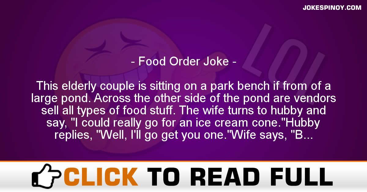 Food Order Joke