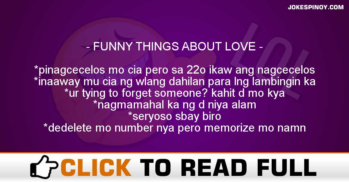 FUNNY THINGS ABOUT LOVE