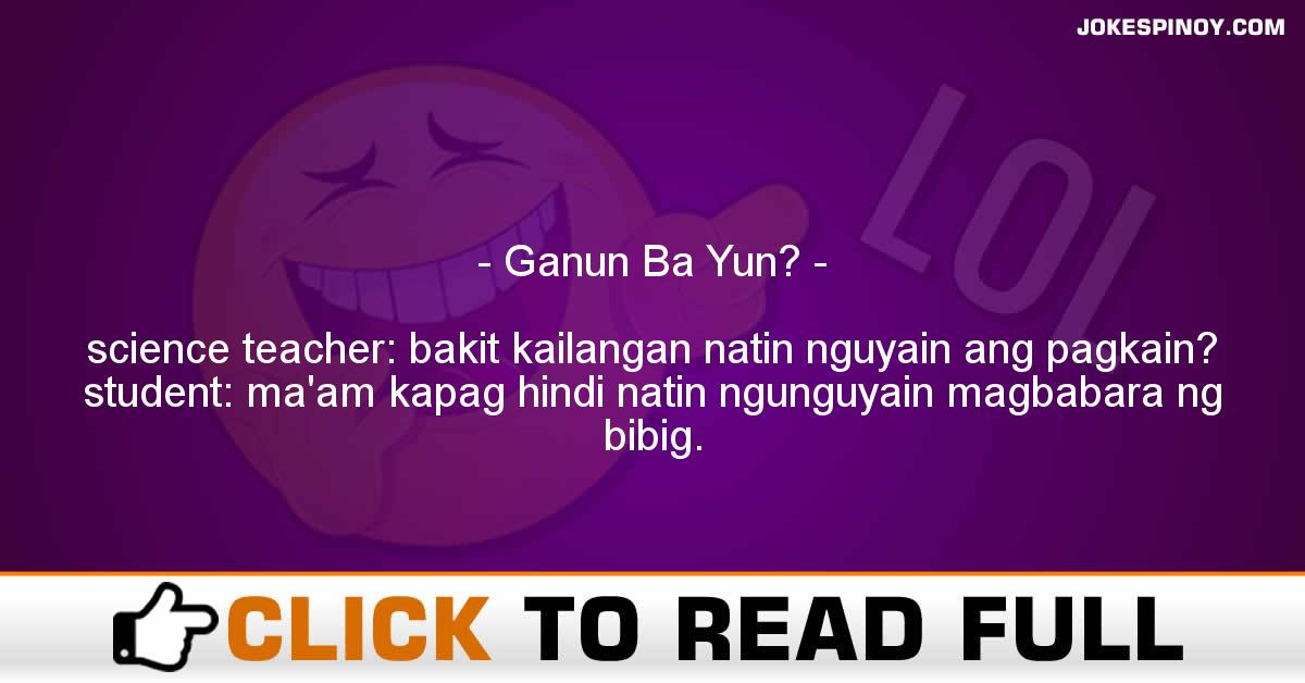 Ganun Ba Yun?