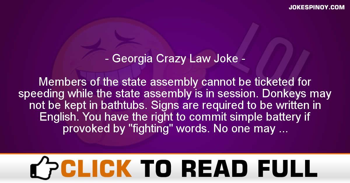 Georgia Crazy Law Joke