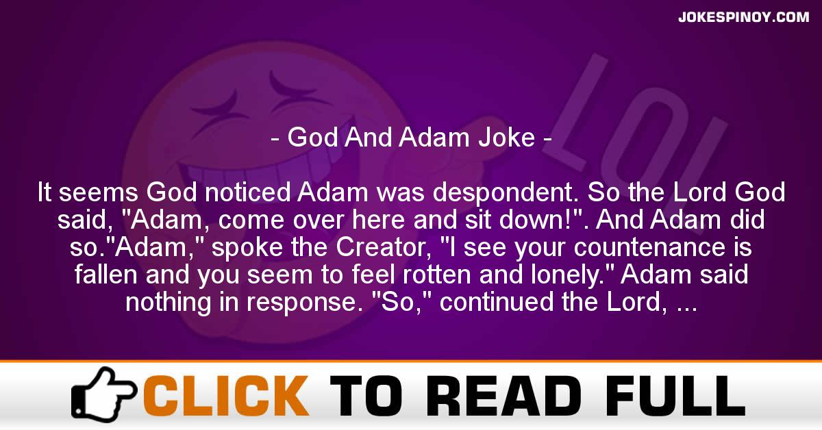 God And Adam Joke