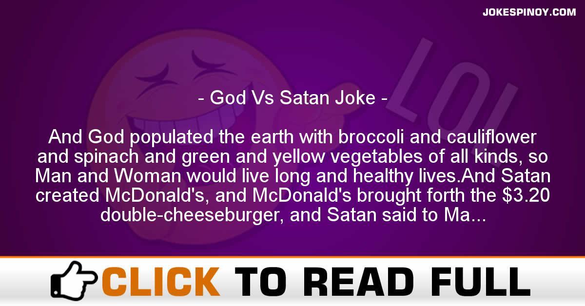 God Vs Satan Joke