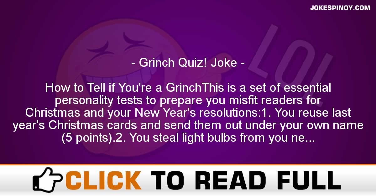 Grinch Quiz! Joke