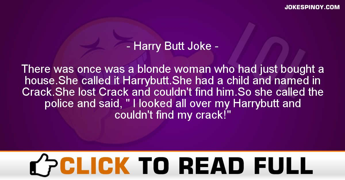 Harry Butt Joke