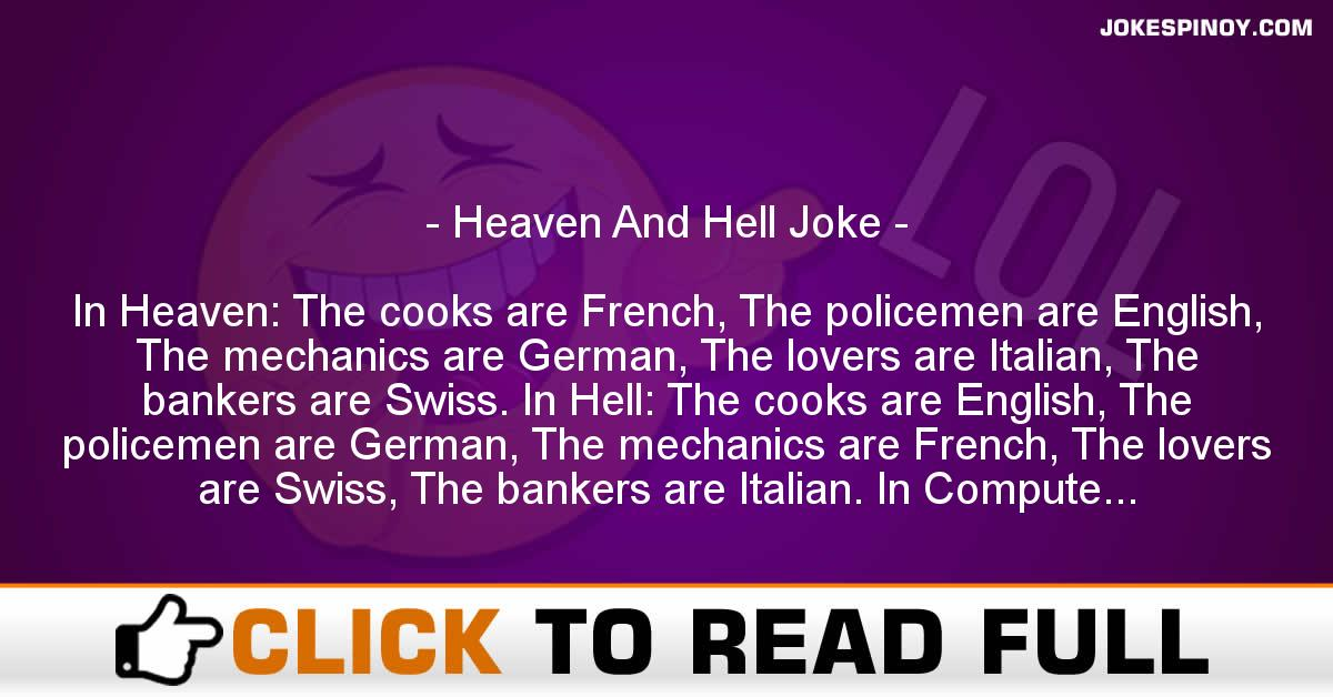 Heaven And Hell Joke