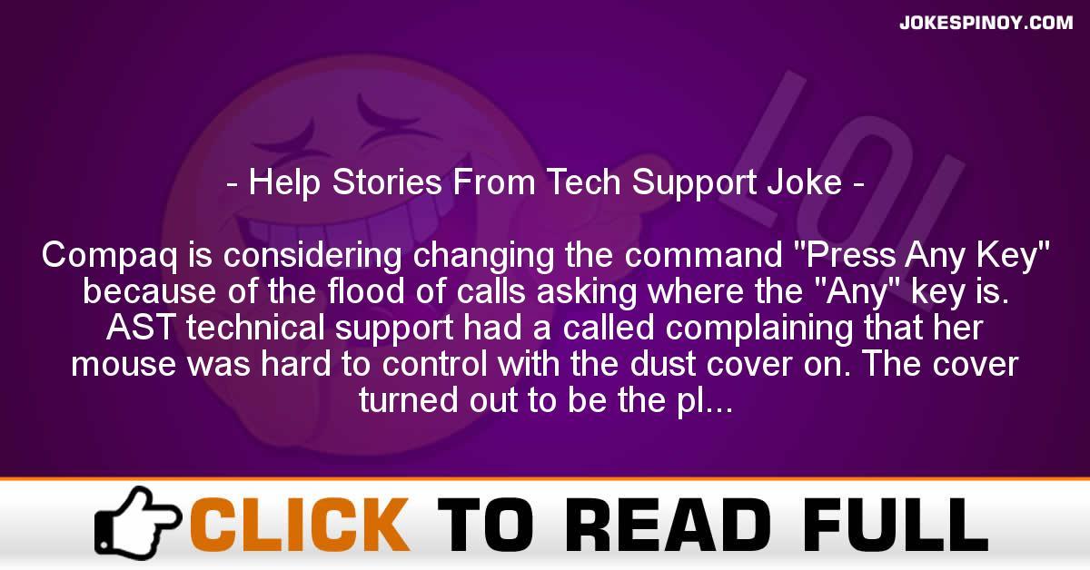Help Stories From Tech Support Joke