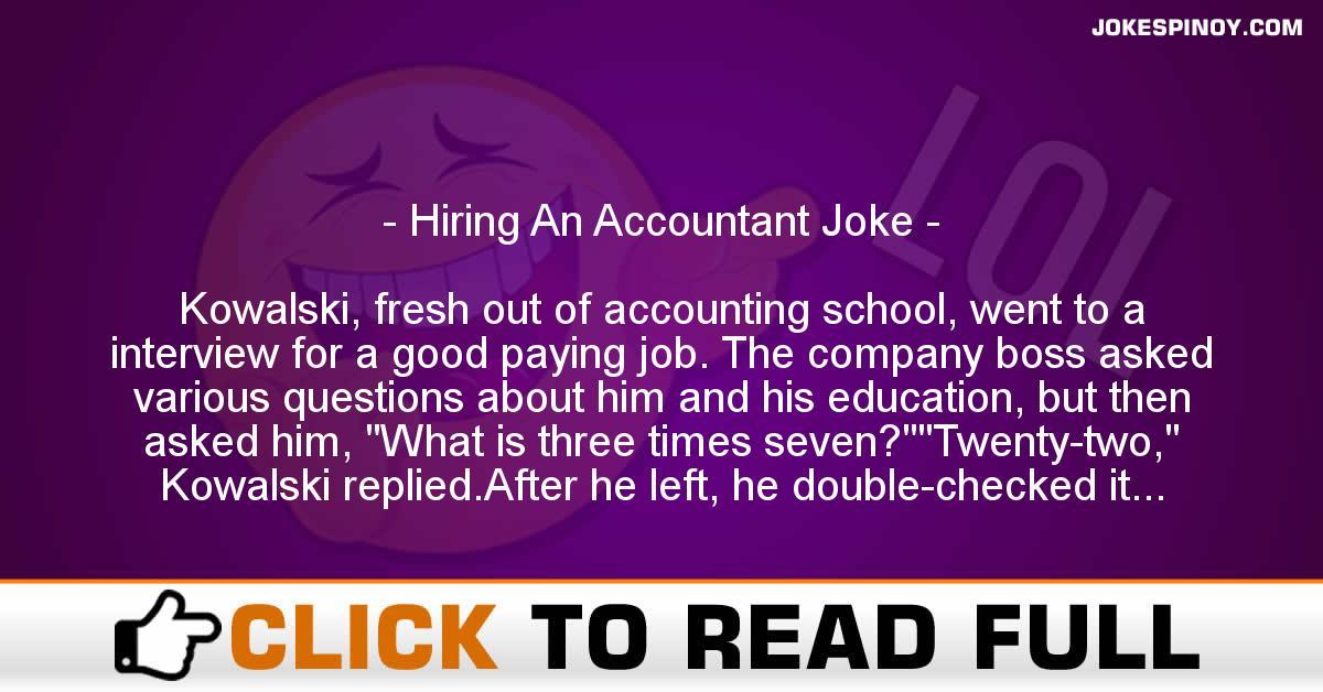 Hiring An Accountant Joke